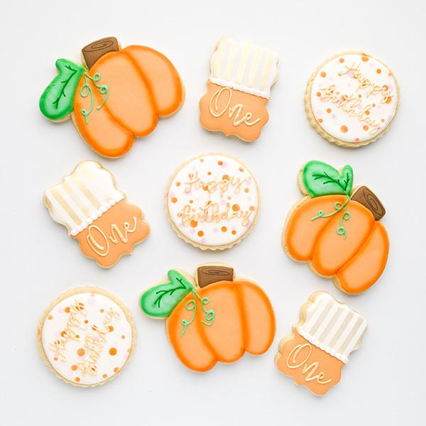 Pumpkin Birthday Cookies