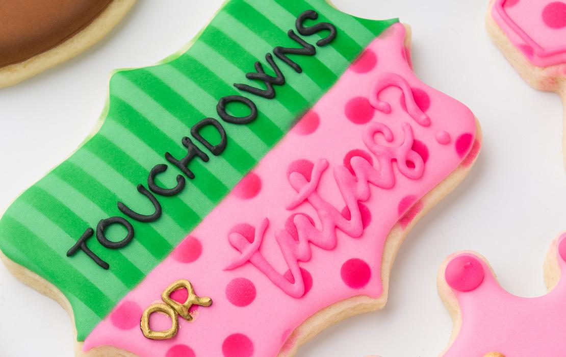 Touchdown or Tutus Cookies